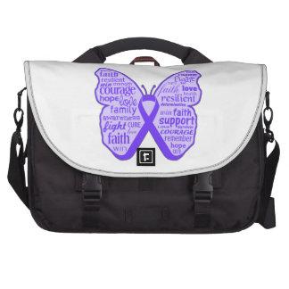 Fibromyalgia Awareness Butterfly Ribbon Laptop Bag