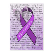 Fibromyalgia Awareness Butterfly Ribbon Magnet