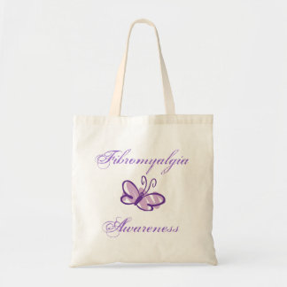 Fibromyalgia Awareness Butterfly Totebag Tote Bag