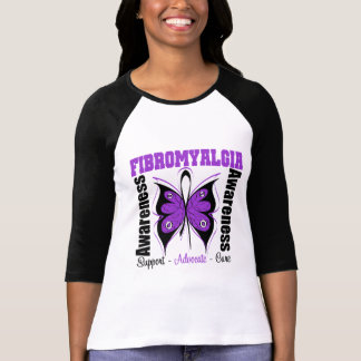 Fibromyalgia Awareness Butterfly Tees