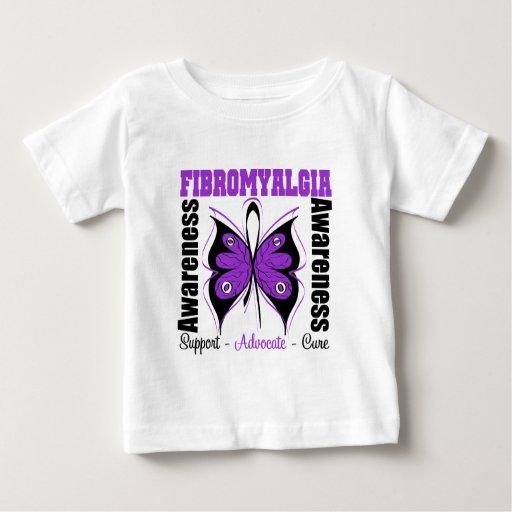 Fibromyalgia Awareness Butterfly Tshirt