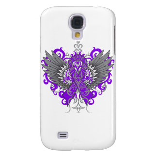 Fibromyalgia Awareness Cool Wings Galaxy S4 Cases