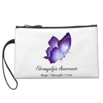 Fibromyalgia Awareness custom clutch