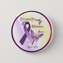 Fibromyalgia Awareness Day Button