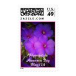 Fibromyalgia Awareness Day-Floral-Stamp Stamp