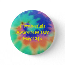 Fibromyalgia, Awareness Day, May 12th-Button Button