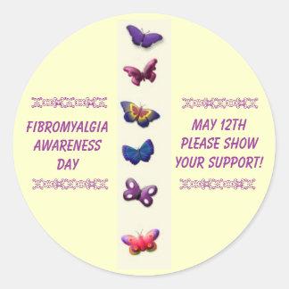 Fibromyalgia Awareness Day, May 12th... Classic Round Sticker