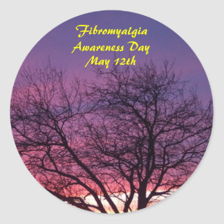 Fibromyalgia Awareness Day, May 12th Classic Round Sticker