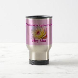 Fibromyalgia Awareness Day, May 12th 15 Oz Stainless Steel Travel Mug