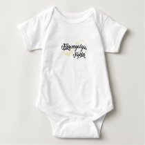Fibromyalgia Awareness Fighter Ribbin Baby Bodysuit