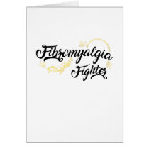 Fibromyalgia Awareness Fighter Ribbin Card