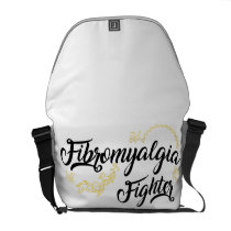 Fibromyalgia Awareness Fighter Ribbin Courier Bag
