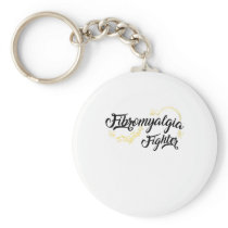 Fibromyalgia Awareness Fighter Ribbin Keychain