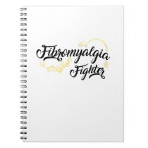 Fibromyalgia Awareness Fighter Ribbin Notebook