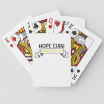 Fibromyalgia Awareness Fighter  Ribbin Playing Cards