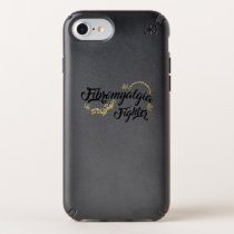 Fibromyalgia Awareness Fighter Ribbin Speck iPhone Case