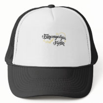 Fibromyalgia Awareness Fighter Ribbin Trucker Hat