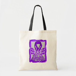 Fibromyalgia Awareness Hope Butterfly Canvas Bags