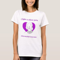 Fibromyalgia awareness I fight a silent pain T-Shirt