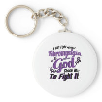 Fibromyalgia Awareness Keychain
