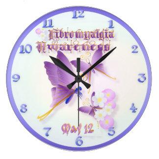 Fibromyalgia Awareness Large Clock