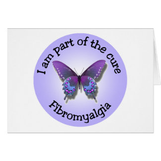 Fibromyalgia Awareness notecard - add your own mes