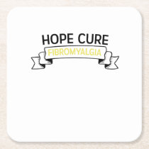 Fibromyalgia Awareness Purple Color Square Paper Coaster