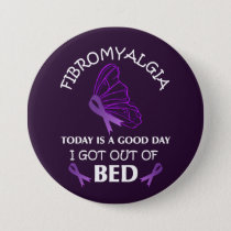 Fibromyalgia Awareness Purple Ribbon Butterfly Button