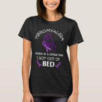 Fibromyalgia Awareness Purple Ribbon Butterfly T-Shirt