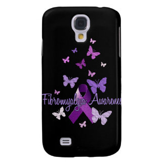Fibromyalgia Awareness (ribbon & butterflies) Samsung Galaxy S4 Cover