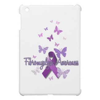 Fibromyalgia Awareness (ribbon & butterflies) iPad Mini Cover