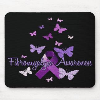 Fibromyalgia Awareness (ribbon & butterflies) Mouse Pad
