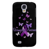 Fibromyalgia Awareness (ribbon & butterflies) Samsung Galaxy S4 Case
