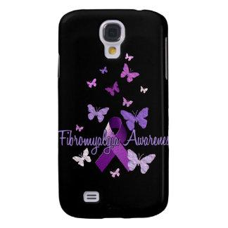 Fibromyalgia Awareness (ribbon & butterflies) Samsung Galaxy S4 Case
