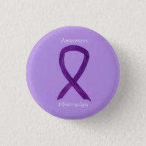 Fibromyalgia Awareness Ribbon Custom Art Pin