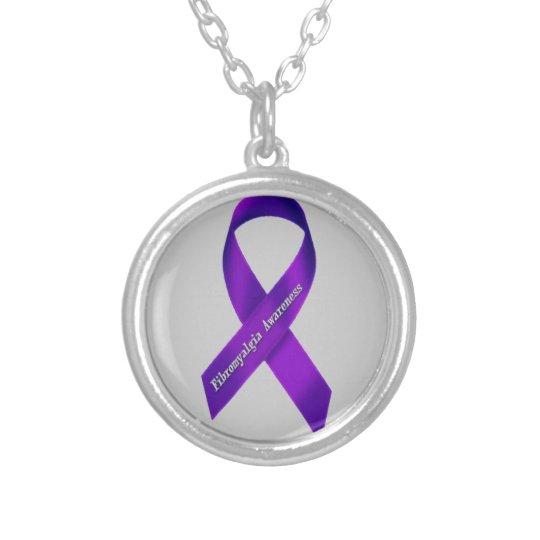 Fibromyalgia Awareness Ribbon Necklace