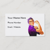 Fibromyalgia Awareness Rosie the Riveter Business Card