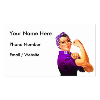 Fibromyalgia Awareness Rosie the Riveter Double-Sided Standard Business Cards (Pack Of 100)
