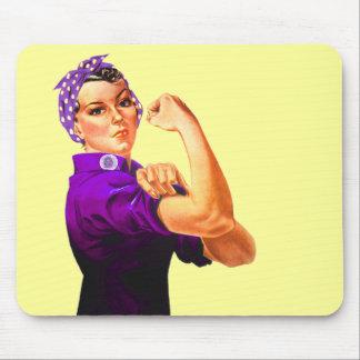 Fibromyalgia Awareness Rosie the Riveter Mouse Pad