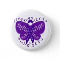 Fibromyalgia Awareness Round Button