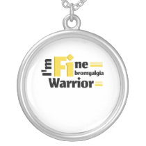 Fibromyalgia Awareness Silver Plated Necklace