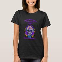 Fibromyalgia Awareness Skull Warrior T-Shirt