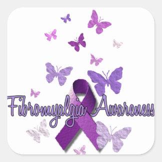 Fibromyalgia Awareness Square Sticker