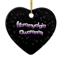 Fibromyalgia Awareness: Stars Ceramic Ornament