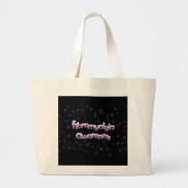 Fibromyalgia Awareness: Stars Large Tote Bag