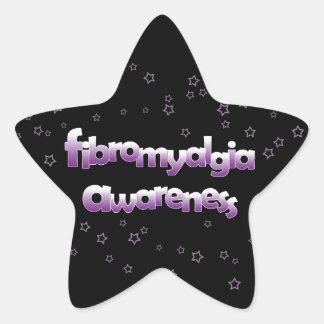 Fibromyalgia Awareness: Stars Star Sticker
