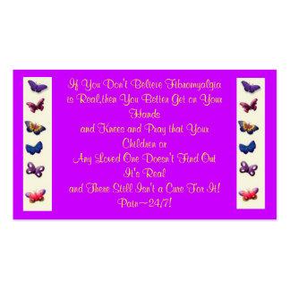 Fibromyalgia Awareness/Statement Cards Business Card Template