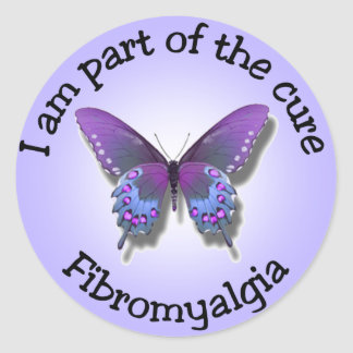 Fibromyalgia Awareness stickers