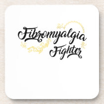Fibromyalgia Awareness Symptoms Beverage Coaster