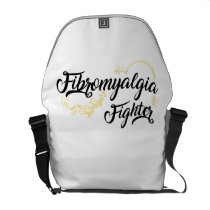 Fibromyalgia Awareness Symptoms Courier Bag